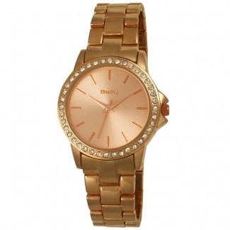 Henley Ladies Rose Gold Bracelet Diamante Watch Peach