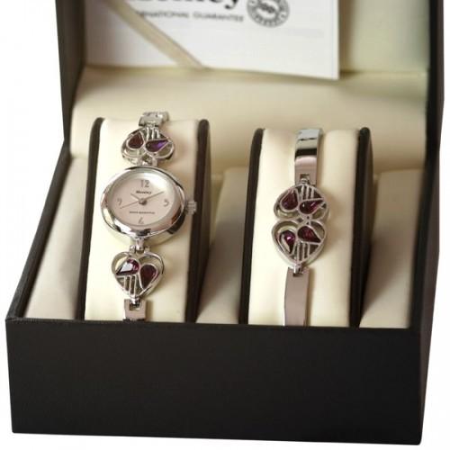 Henley Ladies Watch - Silver / Purple