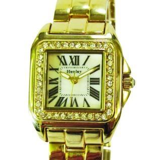 Henley Ladies Square Diamante Bracelet - Gold