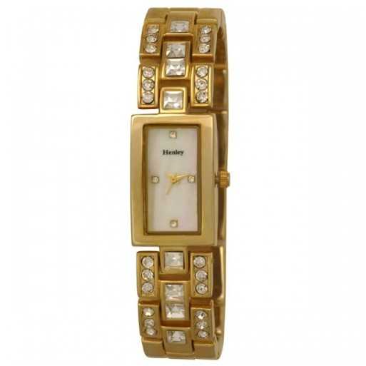 Henley Ladies Rectangular Bracelet Watch - Gold