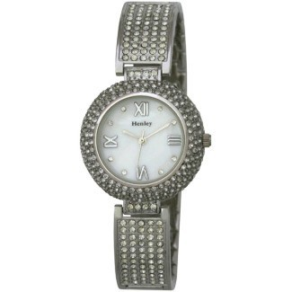 Henley Ladies Diamante Crystal Bracelet Watch Silver