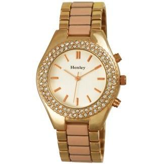 Henley Ladies Coloured Enamelled Bracelet Watch Peach