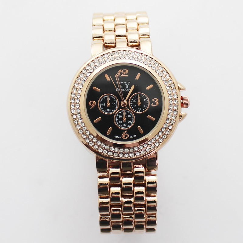 NY London Ladies 3 Dial Design Watch - Rose Gold