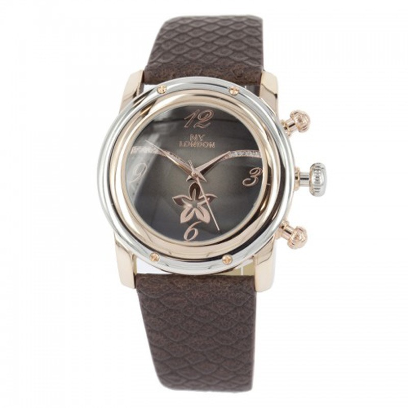 NY London Ladies Leather Band Wrist Watch Brown