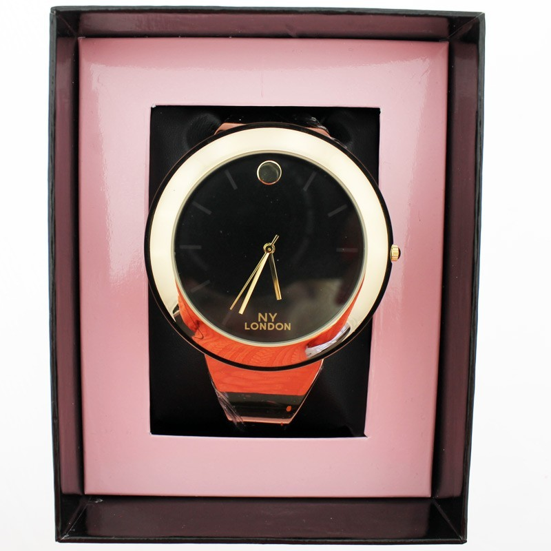 NY London Ladies Big Dial Wrist Watch Gold