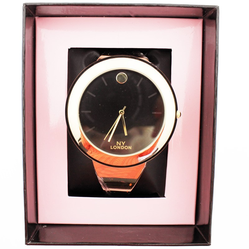 NY London Ladies Big Dial Wrist Watch Rose