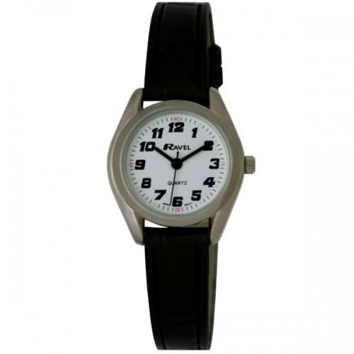 Ravel Ladies Polished Round Retro Style Watch - Silver