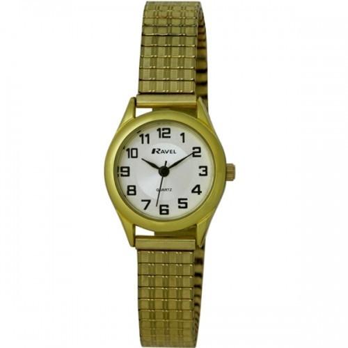 Ravel Ladies Polished Round Watch - Gold