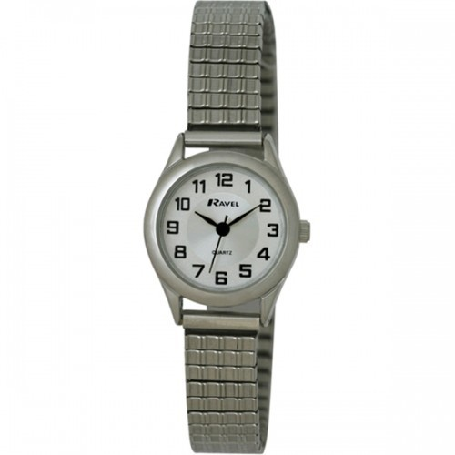 Ravel Ladies Polished Round Watch - Silver