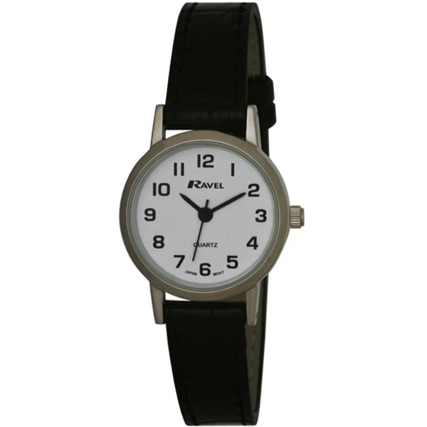 Ravel Ladies Polished Round Watch - Silver