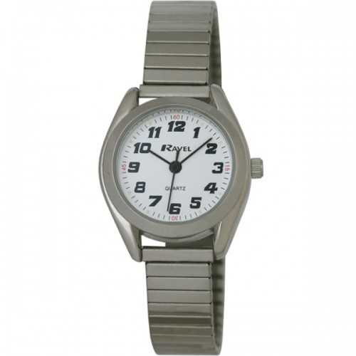 Ravel Ladies Retro Style Round Watch - Silver