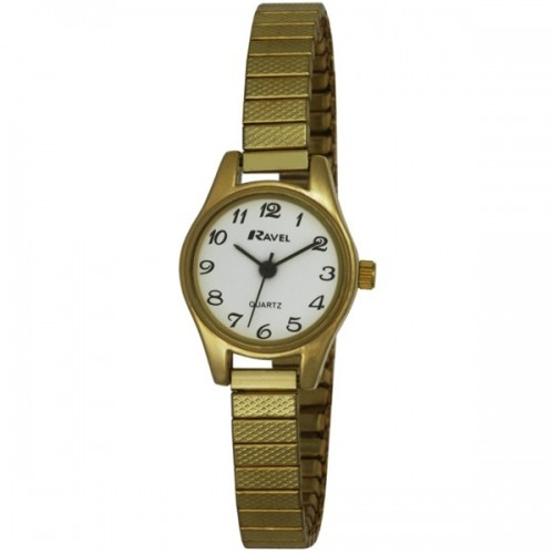 Ravel Polished Petite Round Watch - Gold