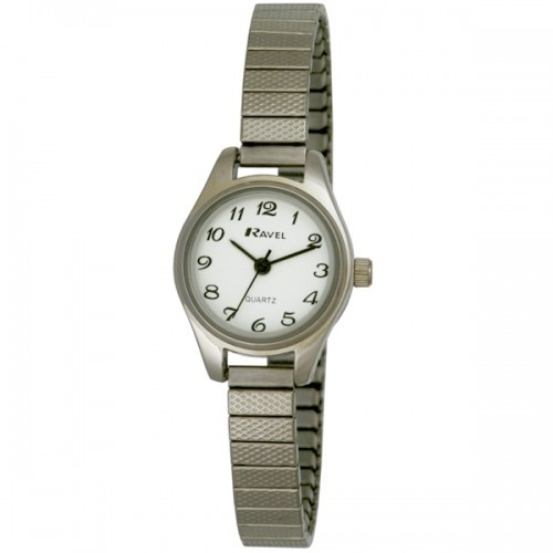 Ravel Polished Petite Round Watch - Silver
