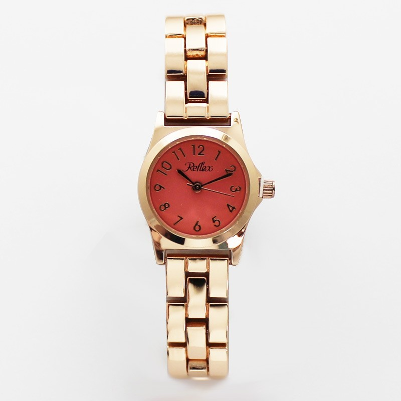 Reflex Ladies Classic Bracelet Watch with Coloured Dial Coral Pink