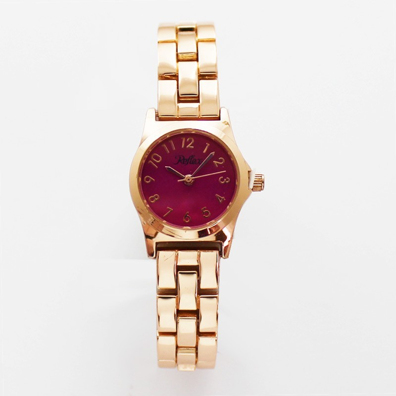 Reflex Ladies Classic Bracelet Watch with Coloured Dial Pink