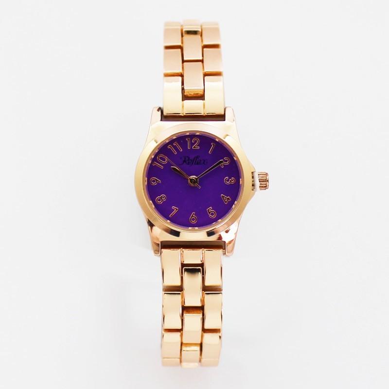 Reflex Ladies Classic Bracelet Watch with Coloured Dial Purple