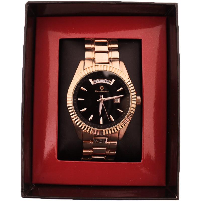 Enzo Giomani Unisex Wrist Watch Rose & Black