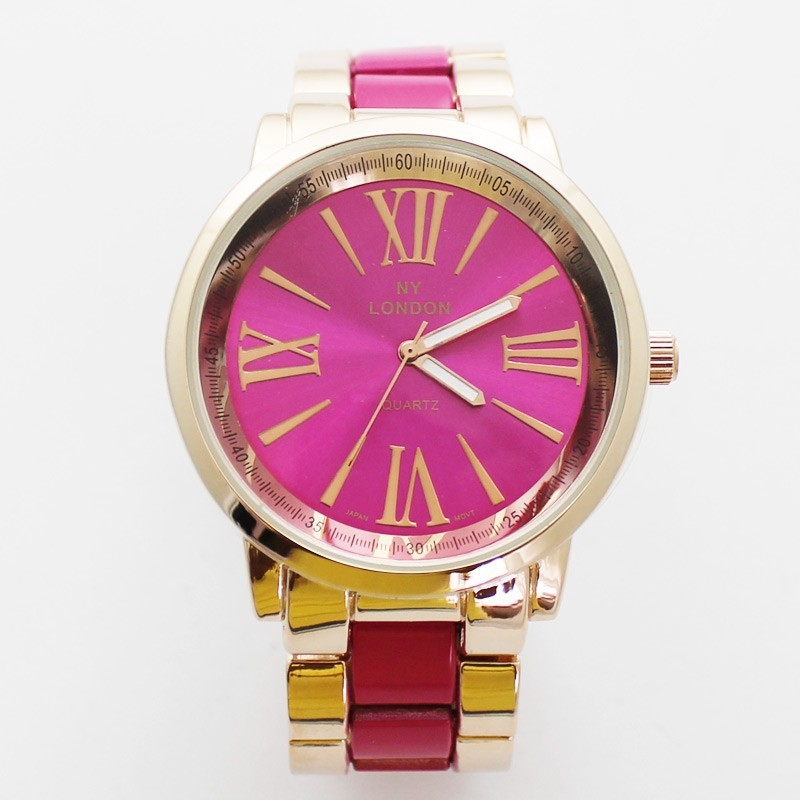 NY London Unisex Classic Style Watch - Pink