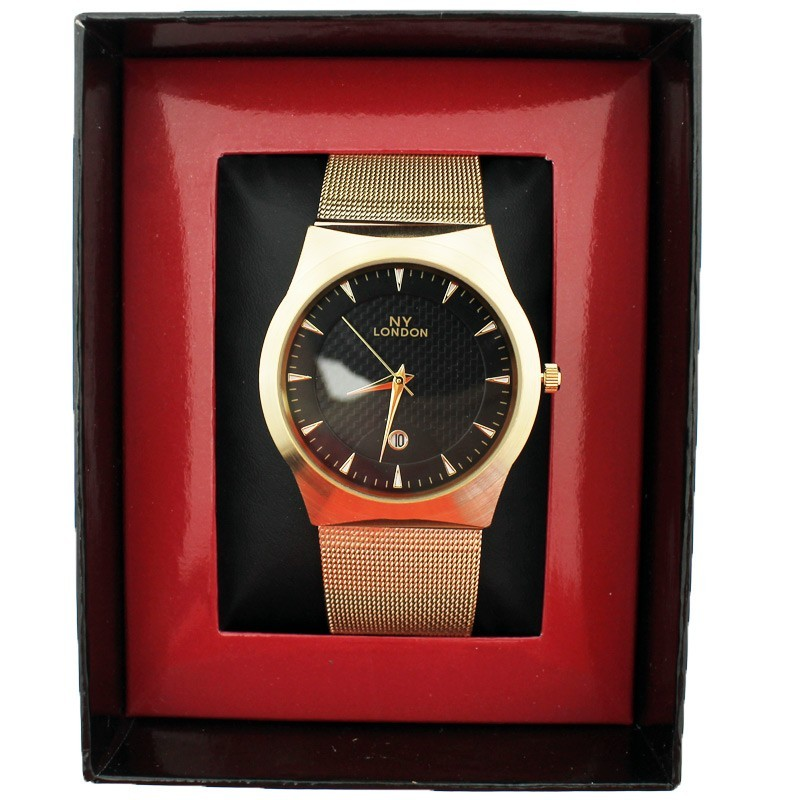 NY London Unisex Wrist Watch Gold