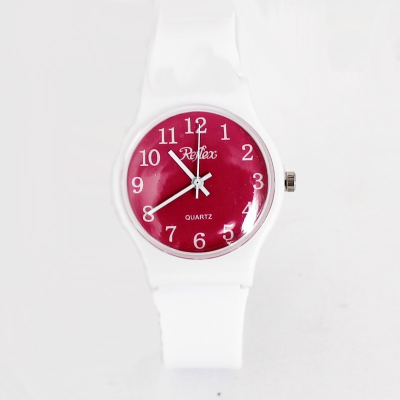 Reflex Classic Unisex Anti Allergy Watch White & Red