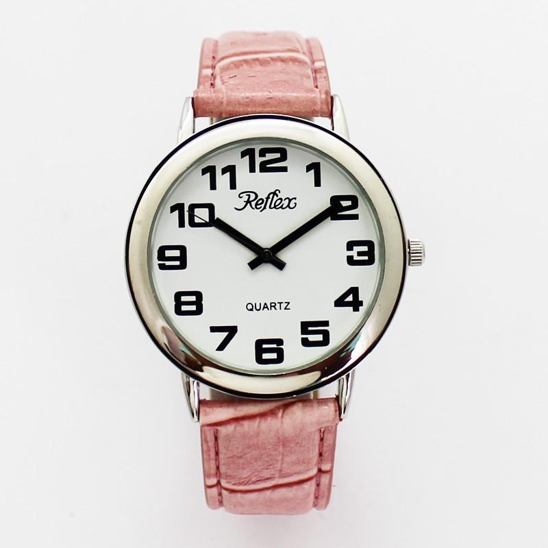 Reflex Jumbo Watch With Pink PU Strap Nubuck Lining