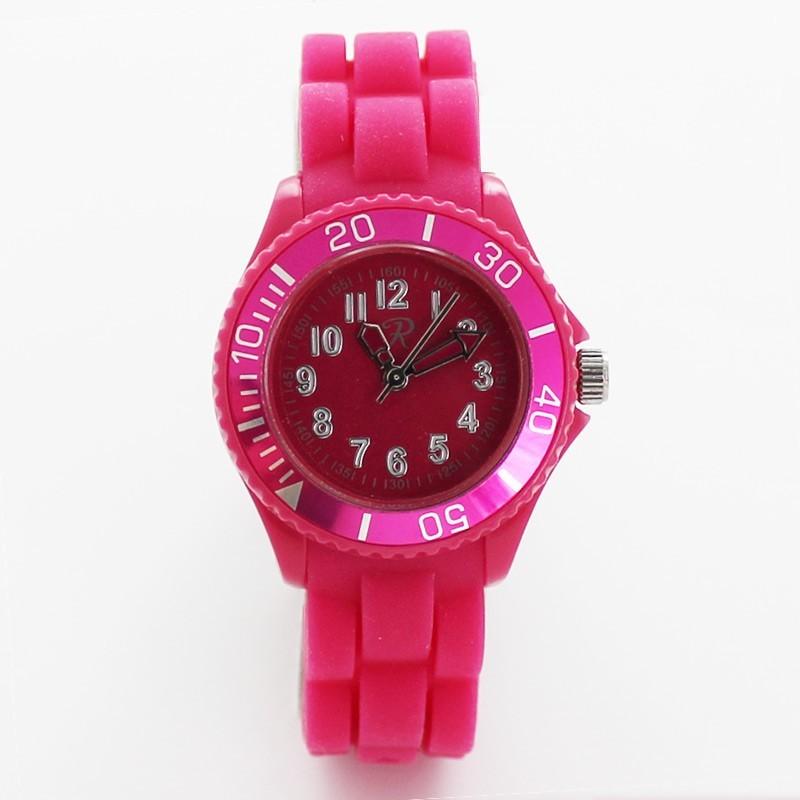 Reflex Unisex Silicone Strap Small Sports Watch Pink