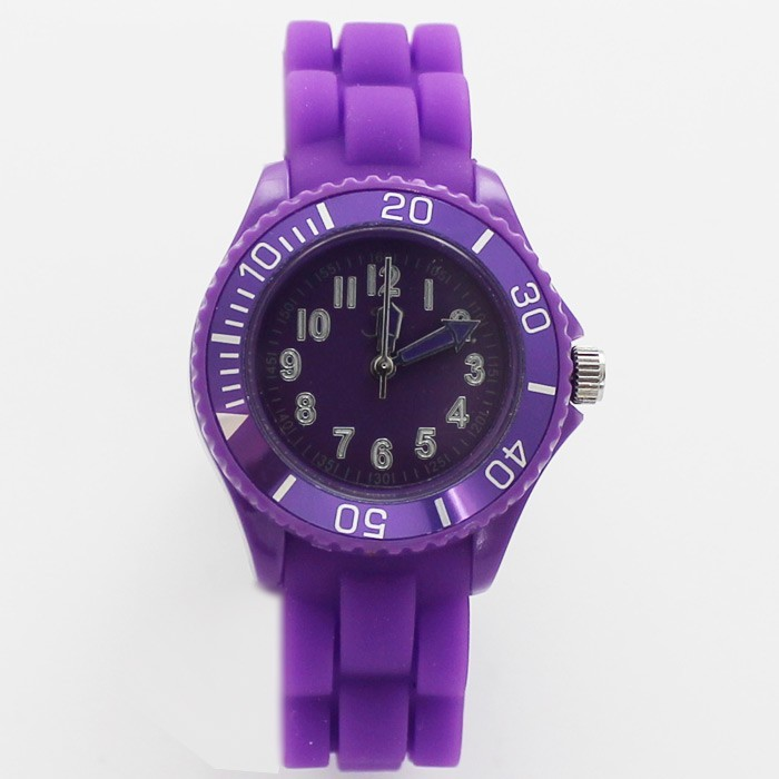 Reflex Unisex Silicone Strap Small Sports Watch Purple