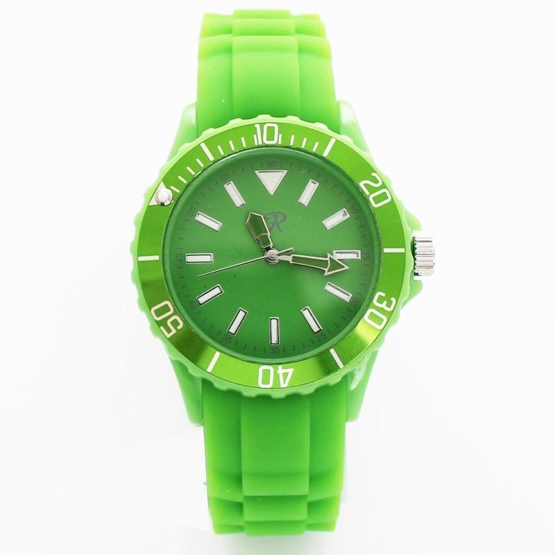 Reflex Unisex Silicone Strap Sports Watch Green