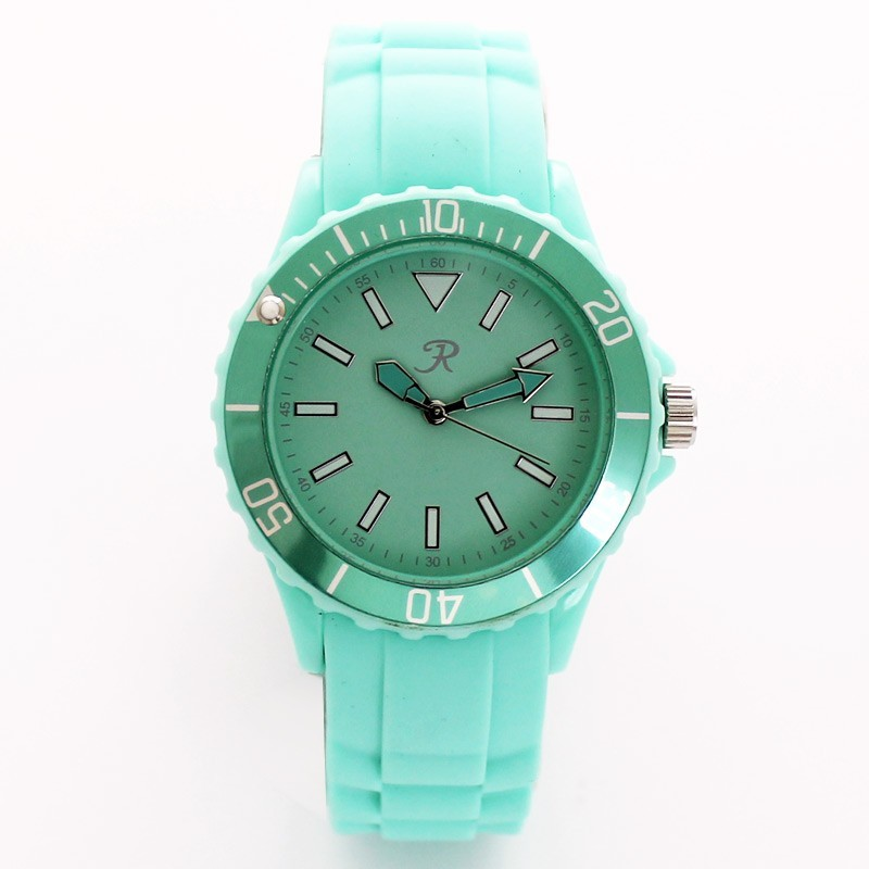 Reflex Unisex Silicone Strap Sports Watch Mint