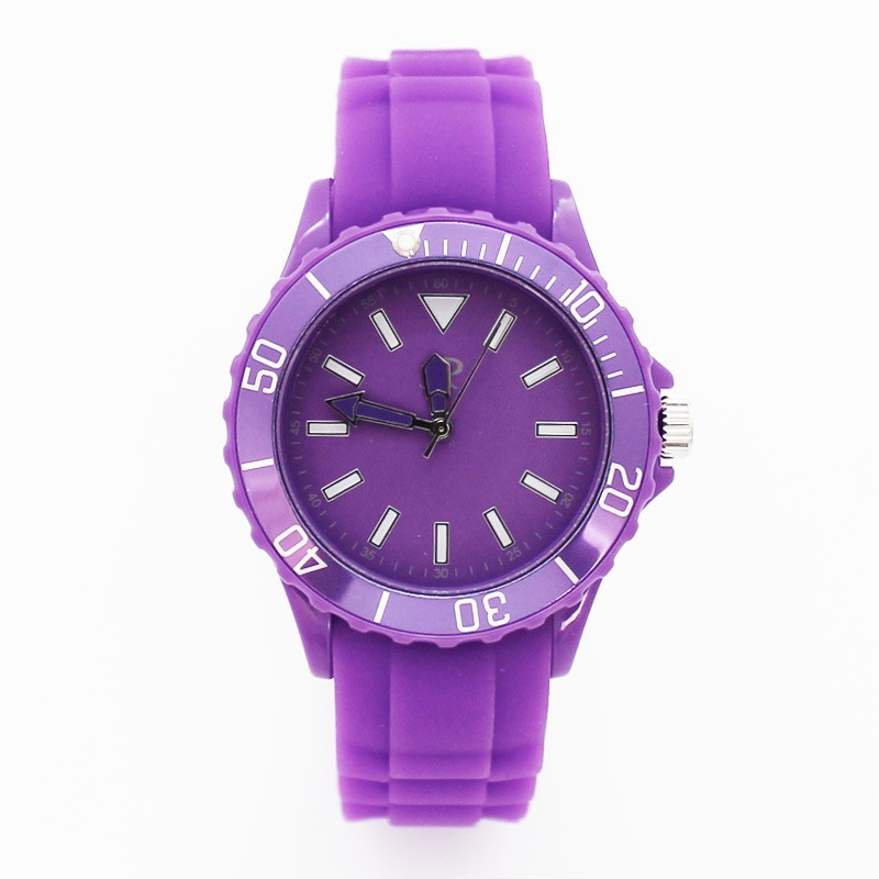 Reflex Unisex Silicone Strap Sports Watch Purple