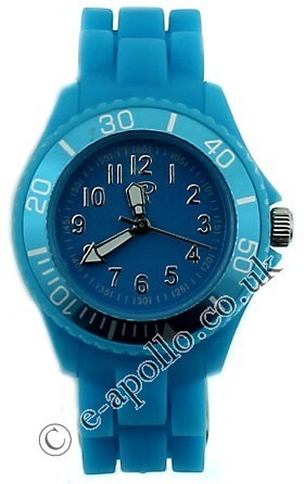 Reflex Unisex Silicone Strap Small Sports Watch Turquoise
