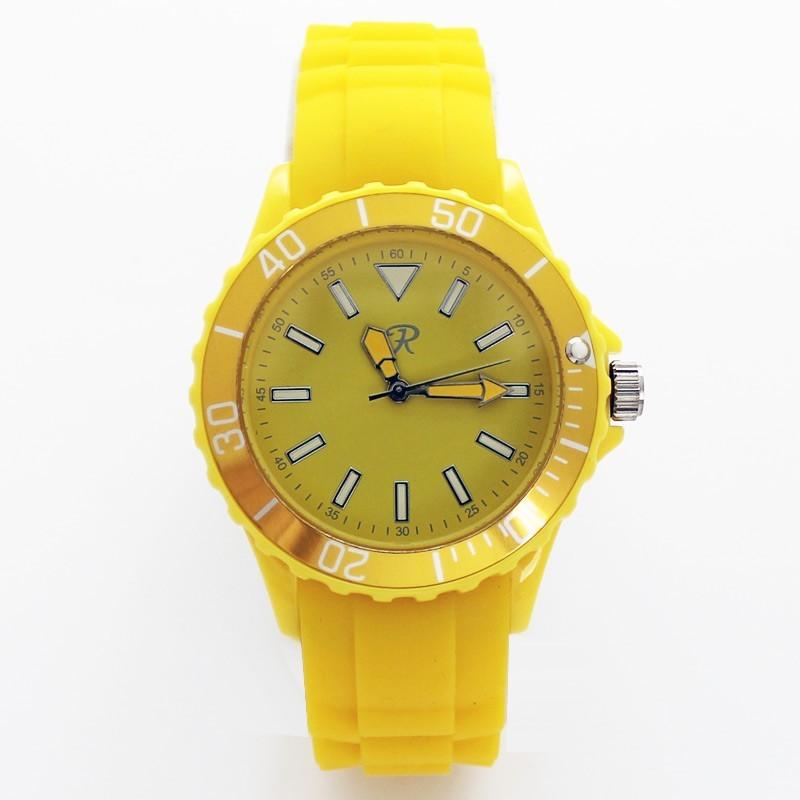 Reflex Unisex Silicone Strap Sports Watch Yellow