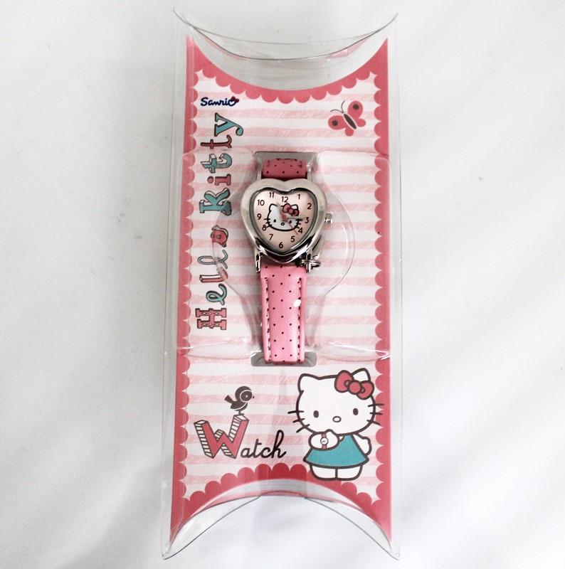 Hello Kitty Heart Dial Watch Dusty Pink