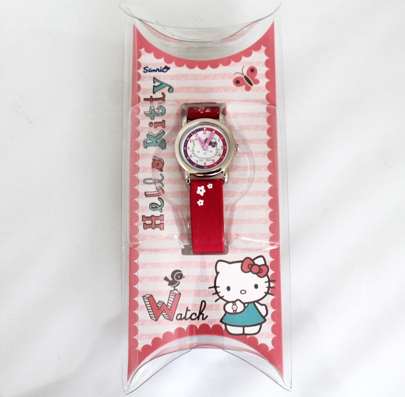 Hello Kitty Round Dial Watch Hot Pink