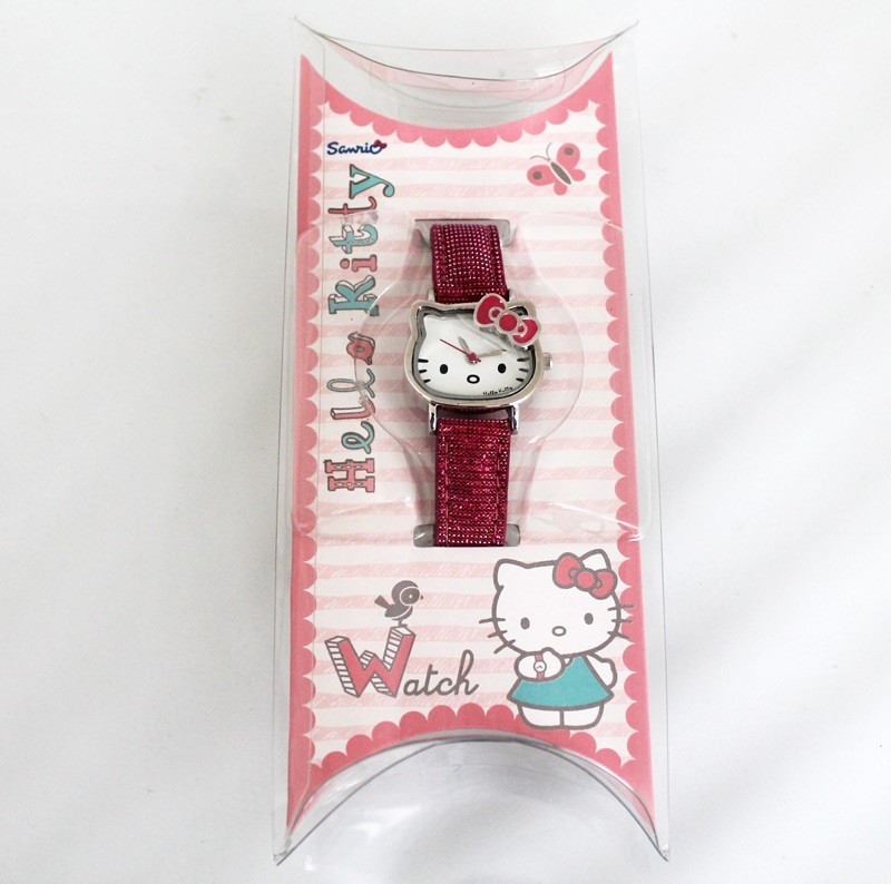 Hello Kitty Shape Dial Watch Hot Pink