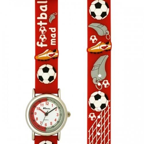 Ravel Childrens Football Mad Design Watch - Red