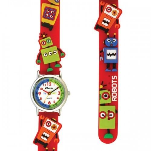 Ravel Ravel Childrens Robot Design Watch - Red