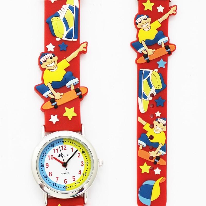 Ravel Childrens Skater Design Watch - Red