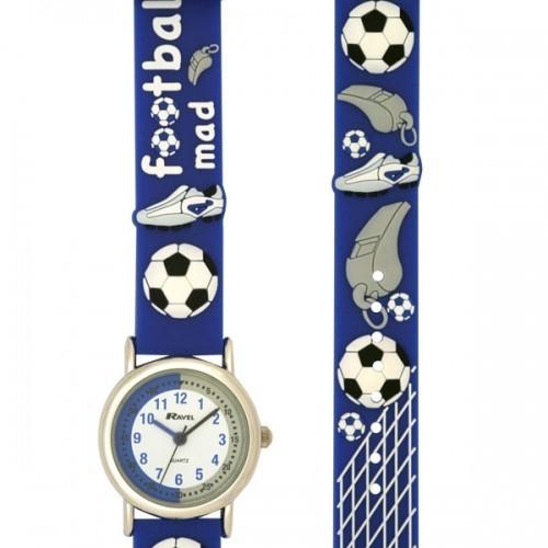Ravel Childrens Football Mad Design Watch - Blue
