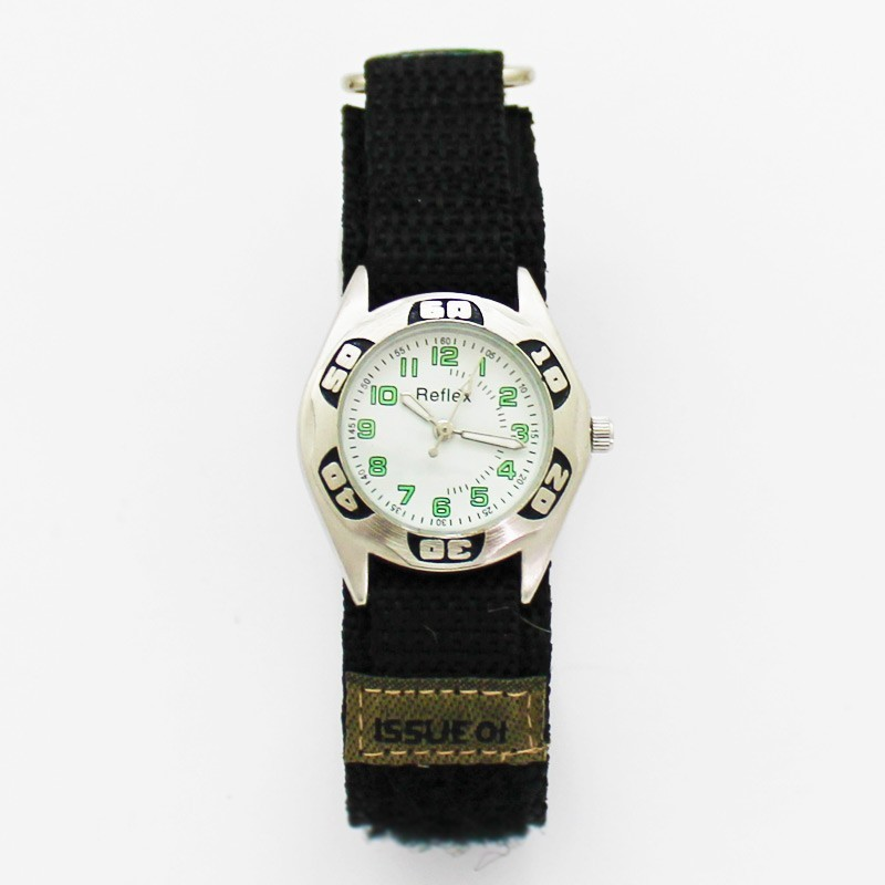 Reflex Kids Army Camouflage Watch - Silver