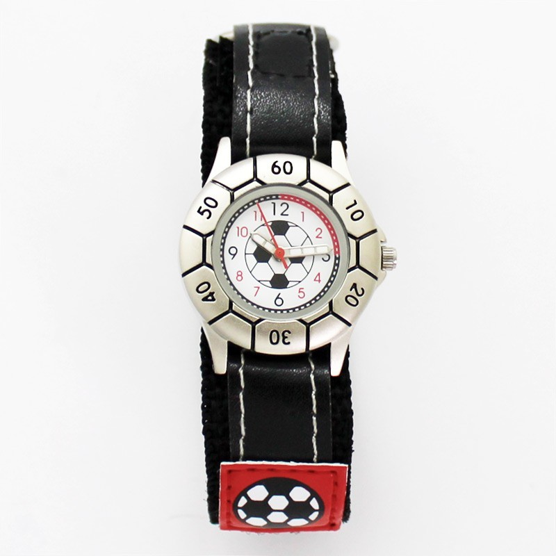 Reflex Kids Football Design Watch - Black & Red