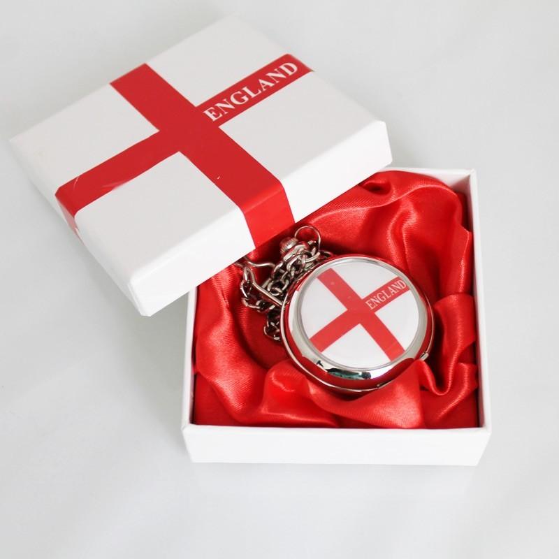 St. George's Cross England Flag Pocket Watch