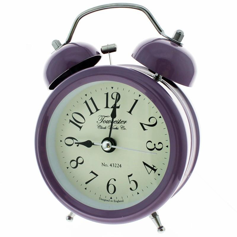 Acctim Battery Powered Ringer Alarm Clock - Purple