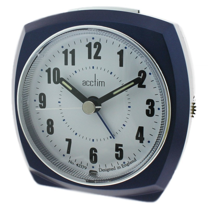 Acctim Harlem Alarm Clock - Blue