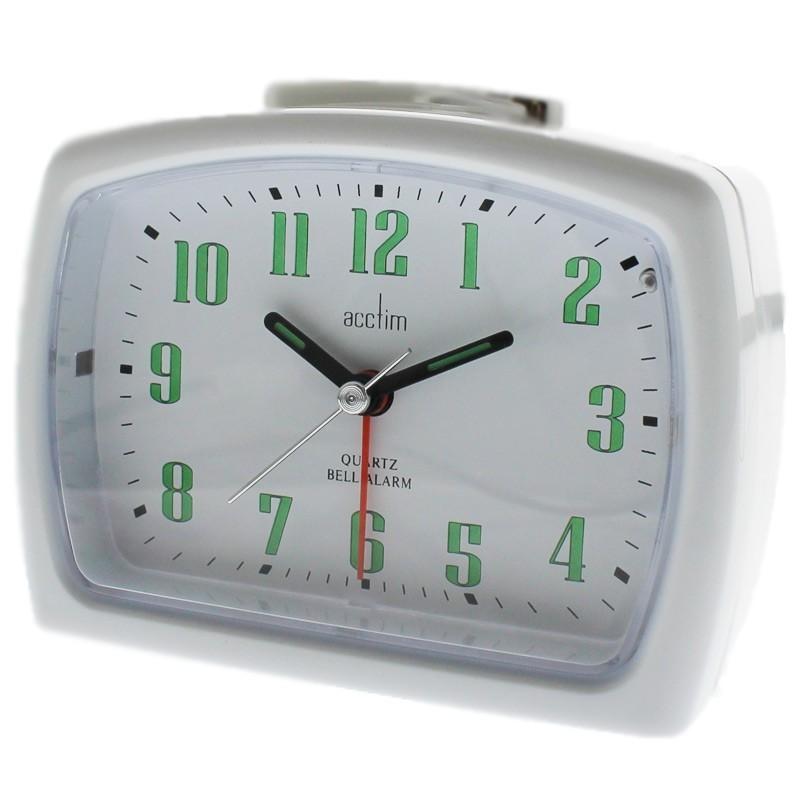 Acctim ISLA Alarm Clock - White