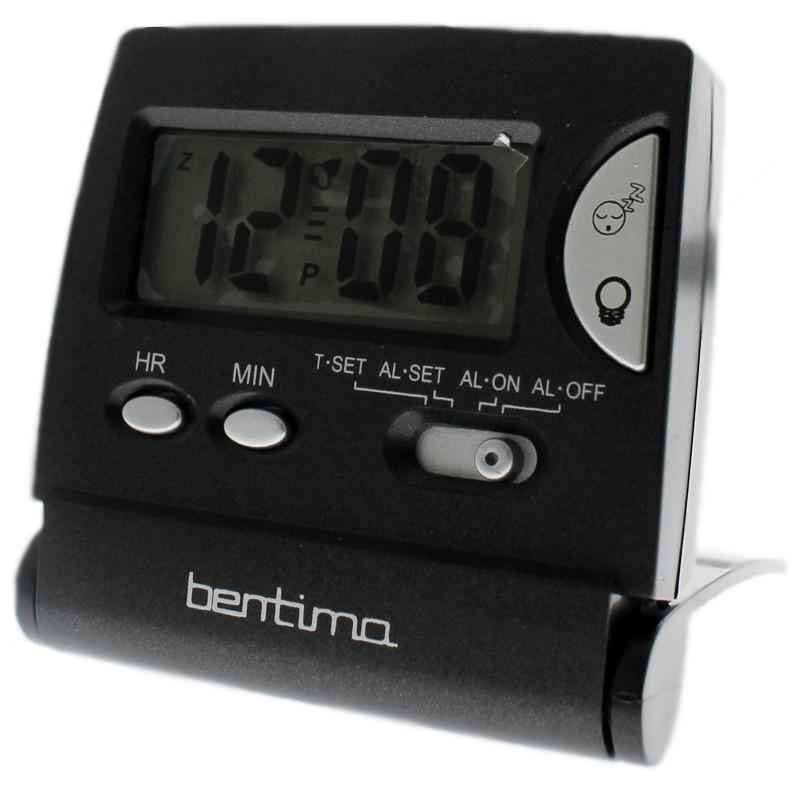 Acctim LCD Flip Alarm Clock - Black