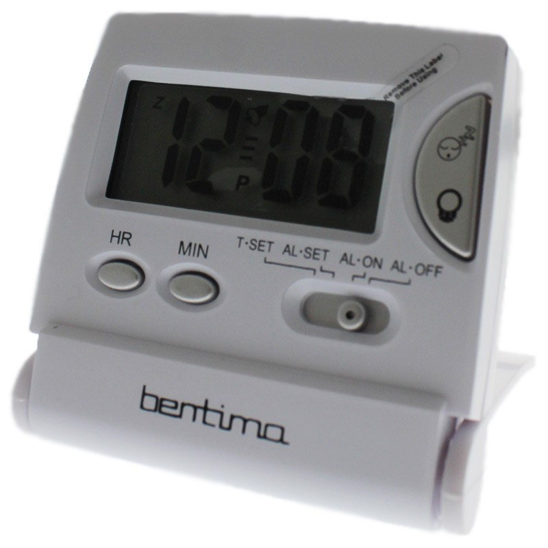 Acctim LCD Flip Alarm Clock - White
