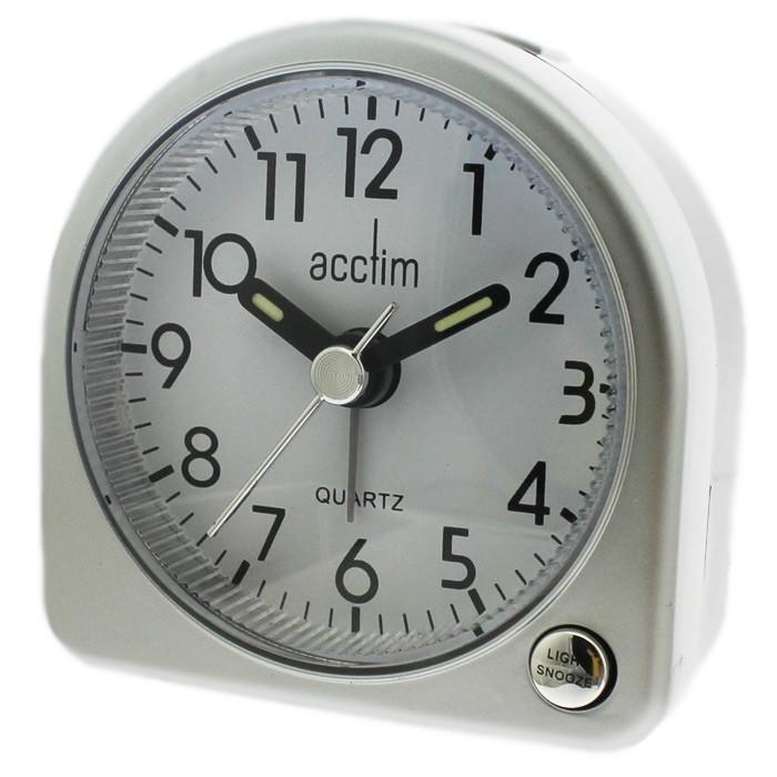 Acctim Mini Arch Alarm Clock - Silver