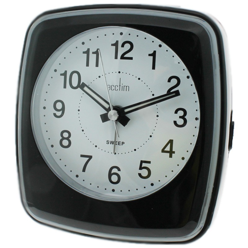 Acctim Orlando Alarm Clock - Black