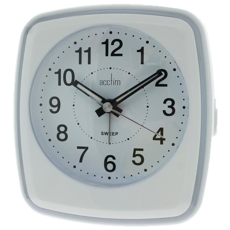 Acctim Orlando Alarm Clock - White